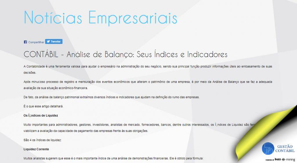 Análise de Balanço: Seus Índices e Indicadores #negócios #escritóriocontábil #acessoriacontábil #análisedebalanço #soubuzzer (TOP 2 – Set)