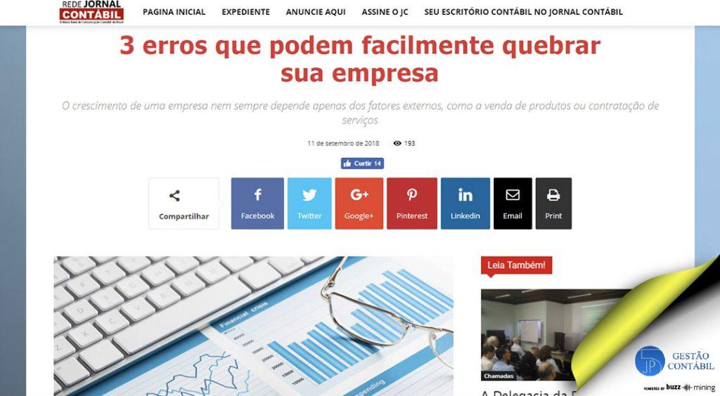 3 erros que podem facilmente quebrar sua empresa #negócios #escritóriocontábil #acessoriacontábil #crescimentoempresarial #soubuzzer (TOP 5 – Out)