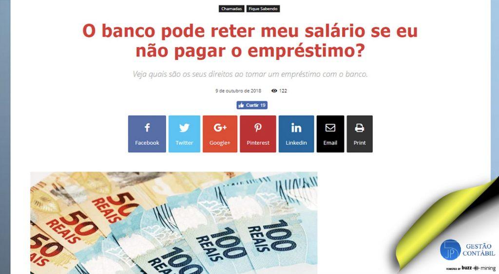 O banco pode reter meu salário se eu não pagar o empréstimo? #negócios #escritóriocontábil #acessoriacontábil #pagamentodeempréstimos #soubuzzer (TOP 4 – Out)
