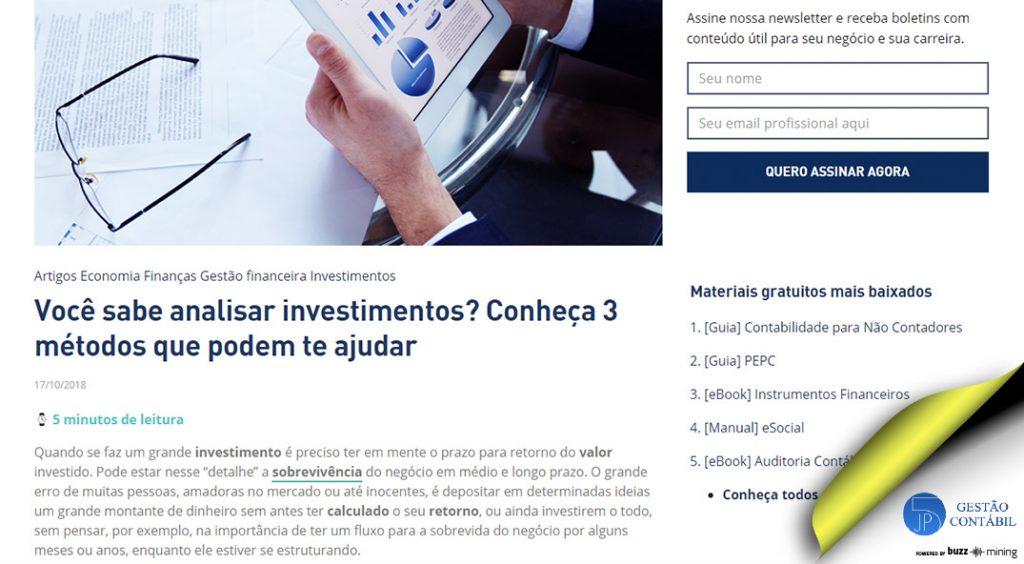 Você sabe analisar investimentos? Conheça 3 métodos que podem te ajudar #negócios #escritóriocontábil #acessoriacontábil #análisedeinsvestimentos (TOP 2 – Dez)