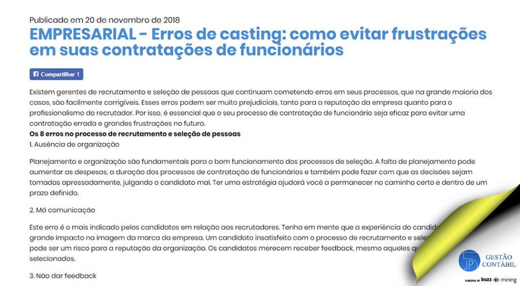Erros de casting: como evitar frustrações em suas contratações de funcionários #negócios #escritóriocontábil #acessoriacontábil #contrataçãodefuncionários (TOP 3 – Dez)