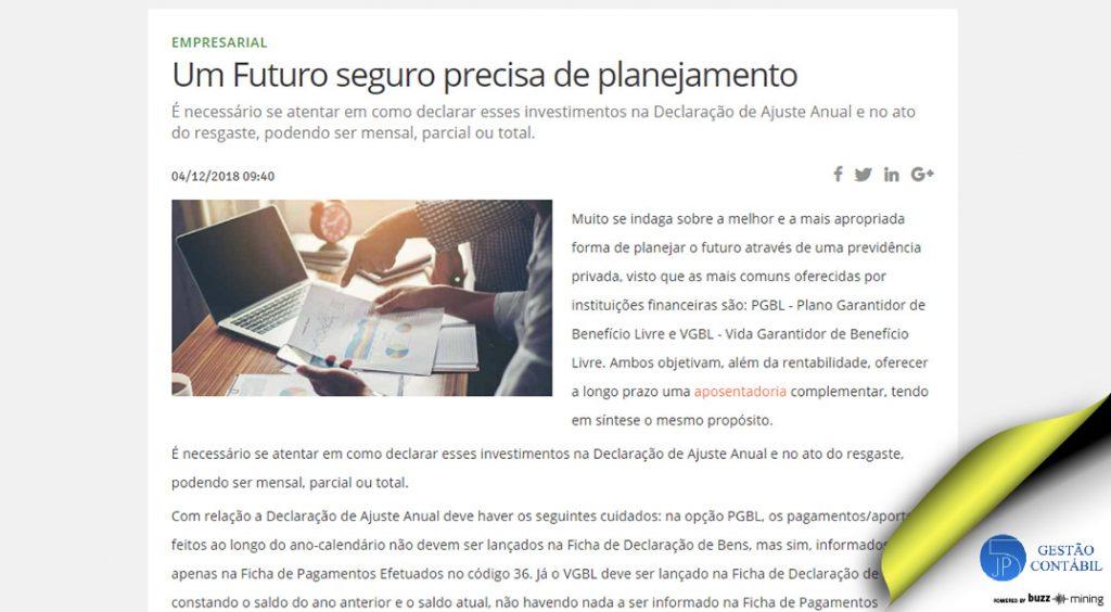 Um Futuro seguro precisa de planejamento #negócios #escritóriocontábil #acessoriacontábil #planejamentodeinvestimentos (TOP 5 – Dez)