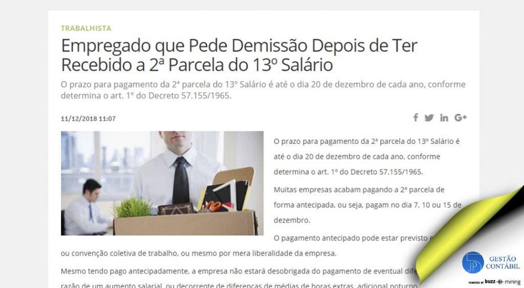 Empregado que Pede Demissão Depois de Ter Recebido a 2ª Parcela do 13º Salário #negócios #escritóriocontábil #acessoriacontábil #13salário (TOP 1 – Jan)