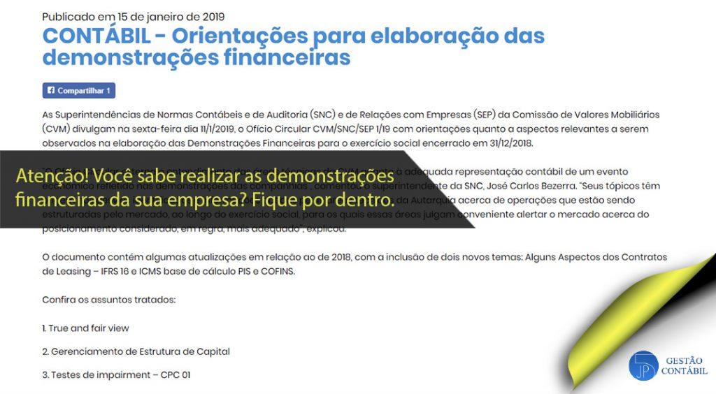 Orientações para elaboração das demonstrações financeiras #negócios #contabilidadebasica #acessoriacontabil #escritoriodecontabilidade #demonstraçõesfinanceiras (TOP 3 – Fev)